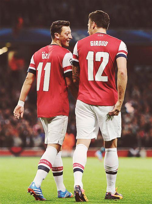 Özil and Grioud - Arsenal FC