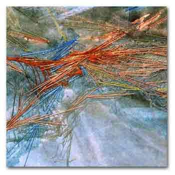 Sandra Meech: Inspired by the arctic snows these are stunning textile works.