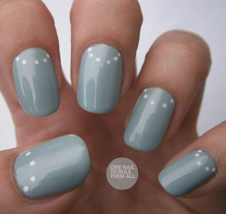 Simple Dot Half Moon manicure - nail art - nails  I would use a different nail color
