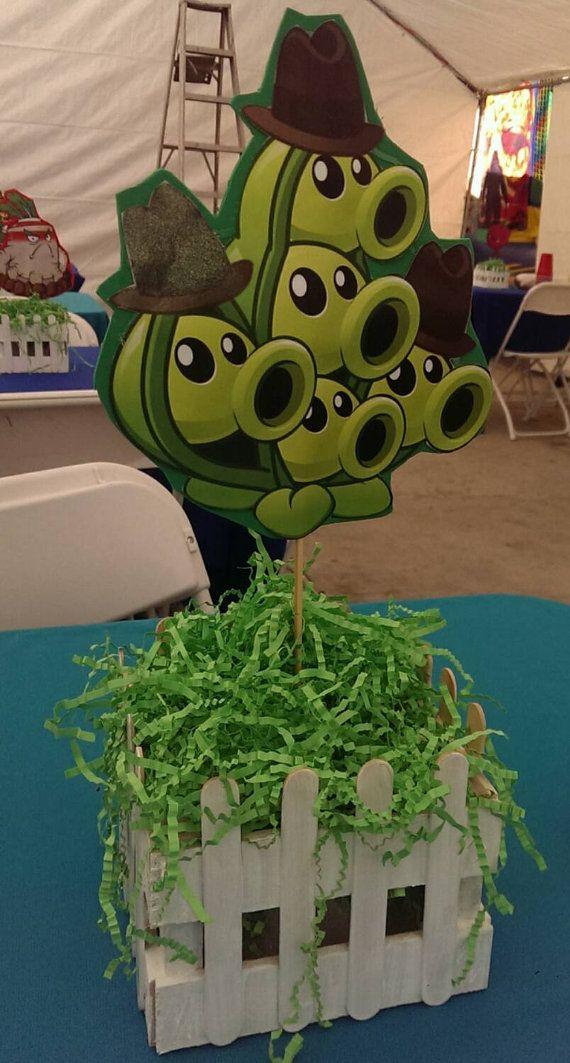 Plants vs Zombies Centerpiece by cherryfalcon on Etsy Plants vs Zombies party Pinterest