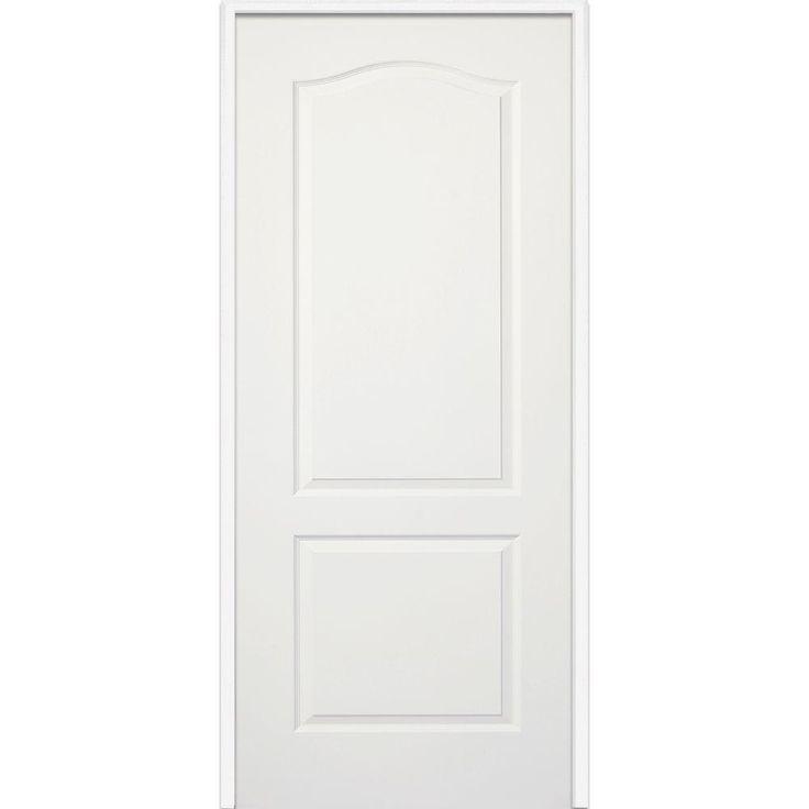 Milliken Millwork 37.5 in. x 81.75 in. Primed Princeton Smooth Surface Solid Core Interior Door