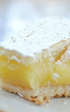 Ina Garten's Lemon Bars - These were very good and easy to make. Will definitely make them again.