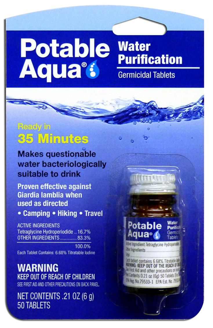 In case they are needed.  Potable Aqua Water Treatment Tablets