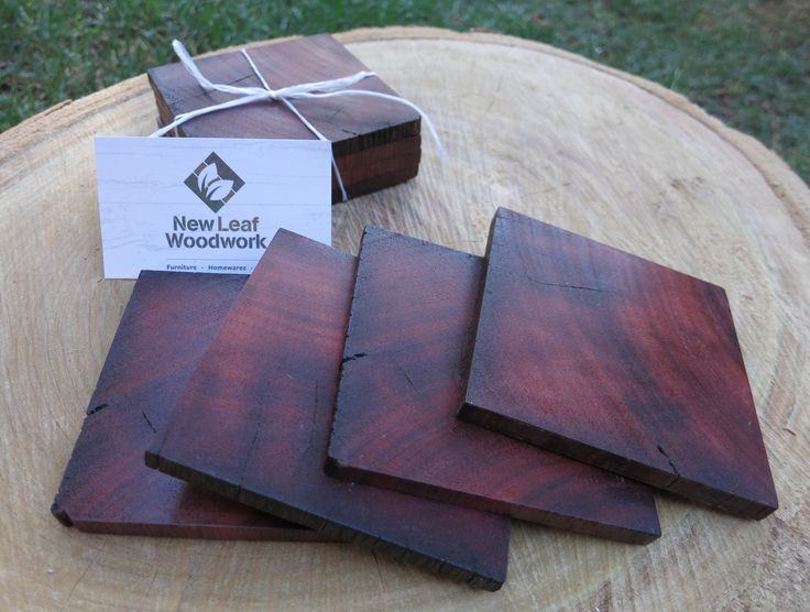 Australian Redgum Coaster Sets :) Limited Edition of these 10cm square ones. www.newleafwoodwork.com.au #christmas #recycledtimber #coasters #homewares #australia