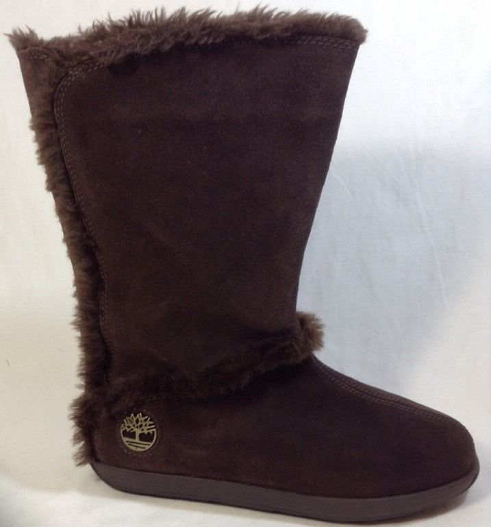 Timberland Mukluk 8.5 Womens Pullon Fur Suede Leather Brown #Timberland #Mukluks
