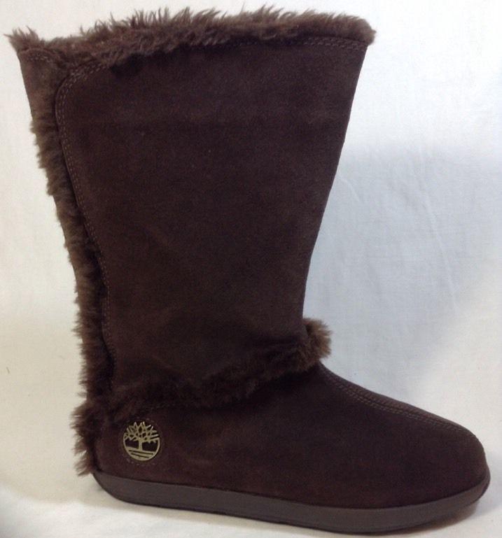 Timberland Mukluk 8.5 Womens Pullon Fur Suede Leather Brown #Timberland #Mukluks