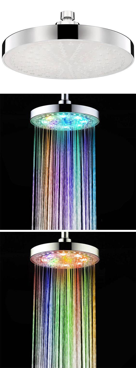 Bathroom products:Sprinkler Cleansing Filter Sprayer Colors Changing LED Shower Head