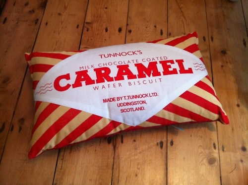 Tunnocks Caramel cushion