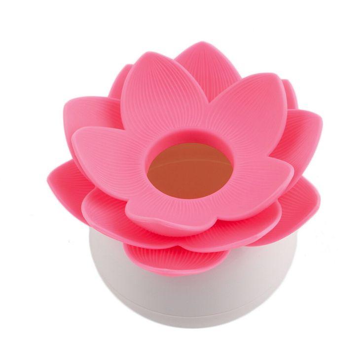 Lotus Flower Cotton Swab Box Vase Decor lotus cotton bud holder base room decorate / Lotus Toothpicks holder plastic box