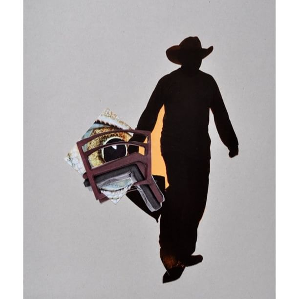 #artforsale Cowboy, Collage on Cardboard, 19,6x29,0cm, 2015 Unique €300 excl. shipping  The work comes with its certificate of authenticity signed by the artist. Contact: office@rolandwegerer.com  Website: www.rolandwegerer.com  #Cowboy #Collage #art #picoftheday #bestoftheday #instagood #paper #artwork #Artist #rolandwegerer #artistsofinstagram #fineart #gift #woman #contemporaryart #tbt #artlover #Austria #Linz