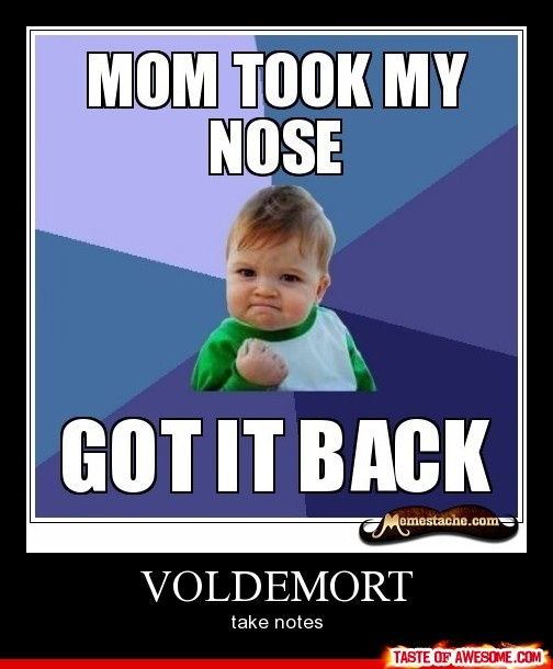 Funny Harry Potter Birthday Meme : Voldemort should take note this little guy is more epic