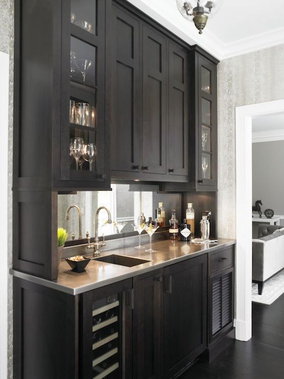 Wet Bar Ideas, Transitional, kitchen, Christine Donner Kitchens