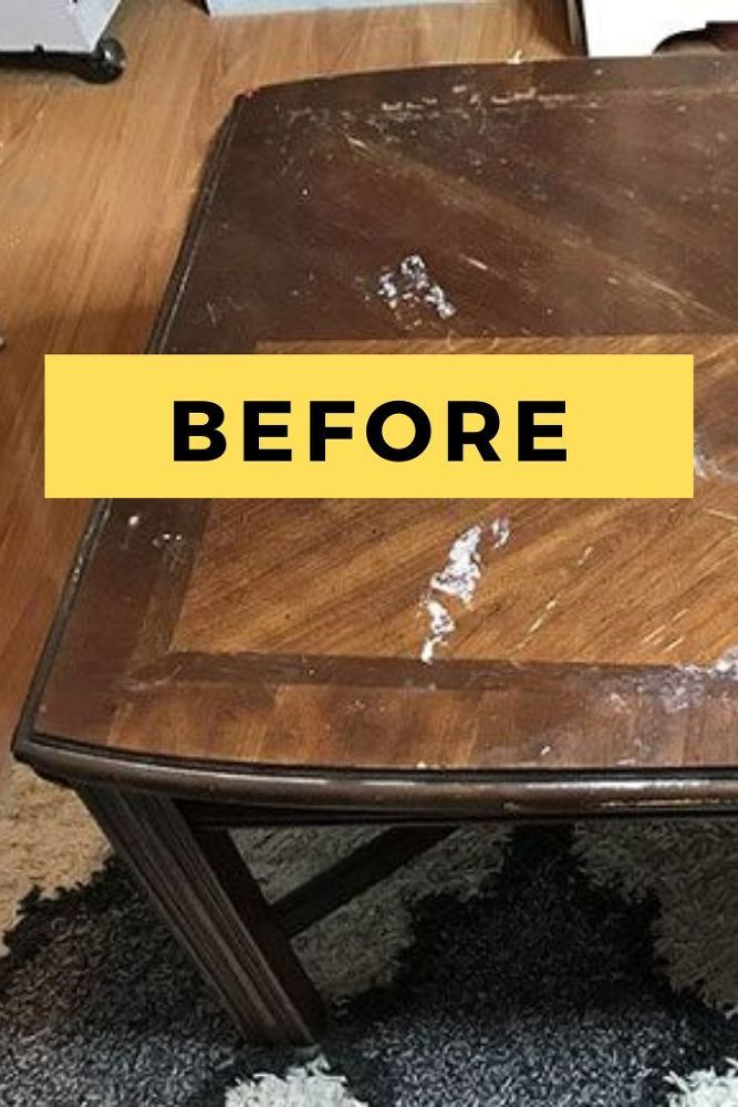diy upcycled coffee table painted
