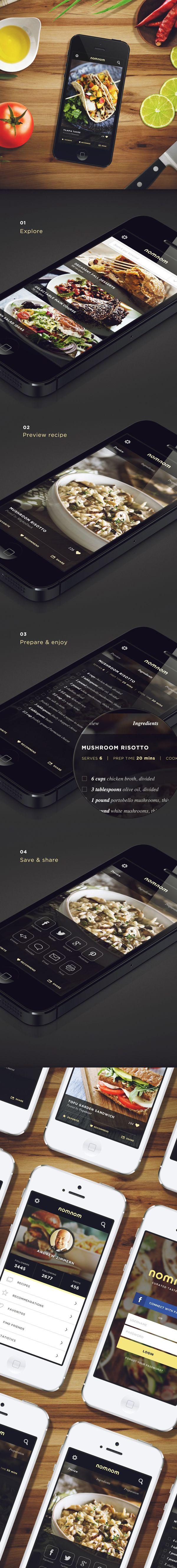 Con la llegada de los dispositivos móviles hay que pensar en la buena adaptación con #diseños claros, sencillos y usables #responsive #design NomNom by Marc-Antoine Roy