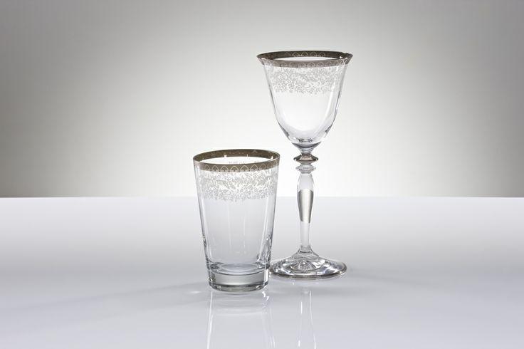 Bridal Platinum Bardak Takımı / Glass Set #bernardo #tabledesign #glass #platinum