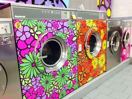 How could you not feel happy at this laundromat!