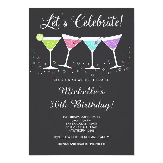 Awesome FREE 30th Birthday Invitation Wording