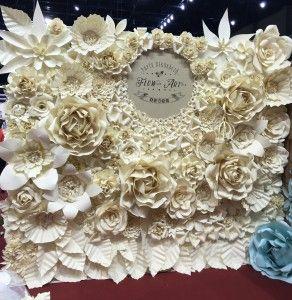 Flow Art Decor,  paper flower , wedding decorations, flowerwall
