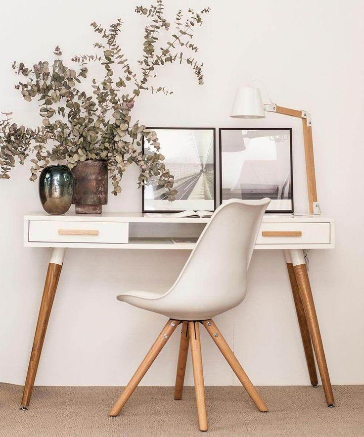 La silla blanca nordik es perfecto para combinarlo con for Sillas comodas para trabajar