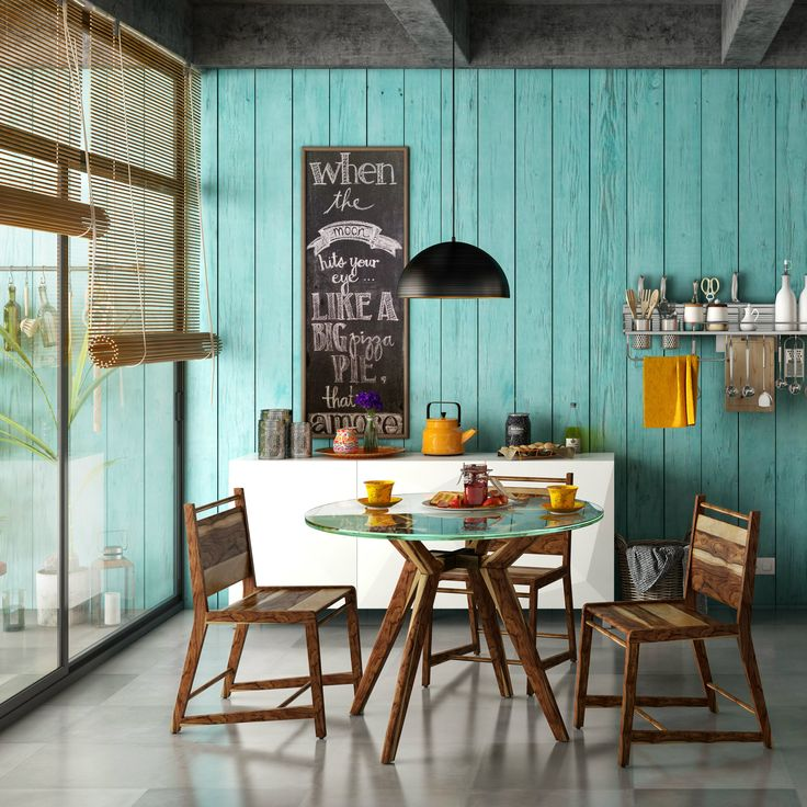 A cafe inspired small dining room for