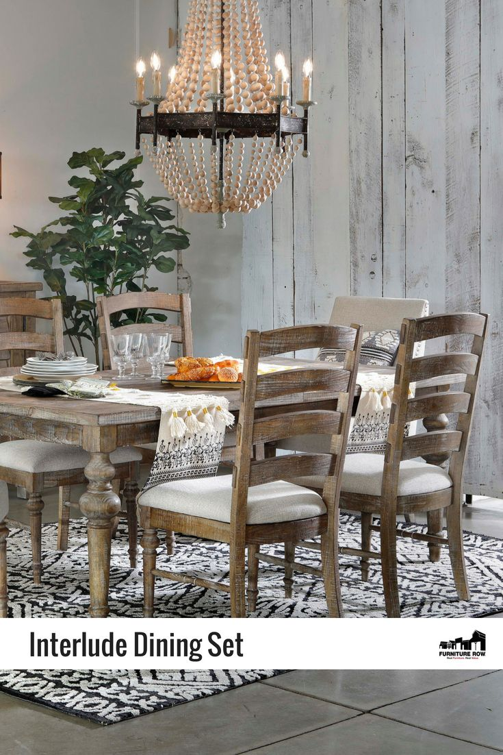 Interlude 5 Pc Rectangle Dining Room Set Rectangle Dining Room Set Dining Rowe Furniture