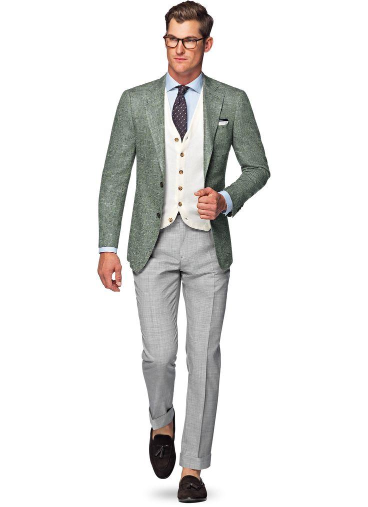 Jacket Green Plain Hudson C944i   Suitsupply Online Store
