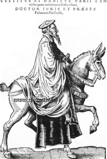 Hans Weigel's Book of Costume 1577: Doctor Iuris praeses parlamenti Parisiensis