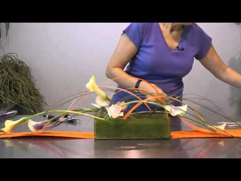 Trabajo floral: Centro horizontal - YouTube