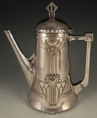 WMF Secessionist Art Nouveau Tea   Set  circa 1905
