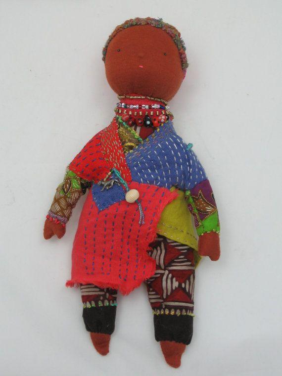 Ethnic Inspired Slow Cloth Doll by VermillionArt on Etsy, $210.00