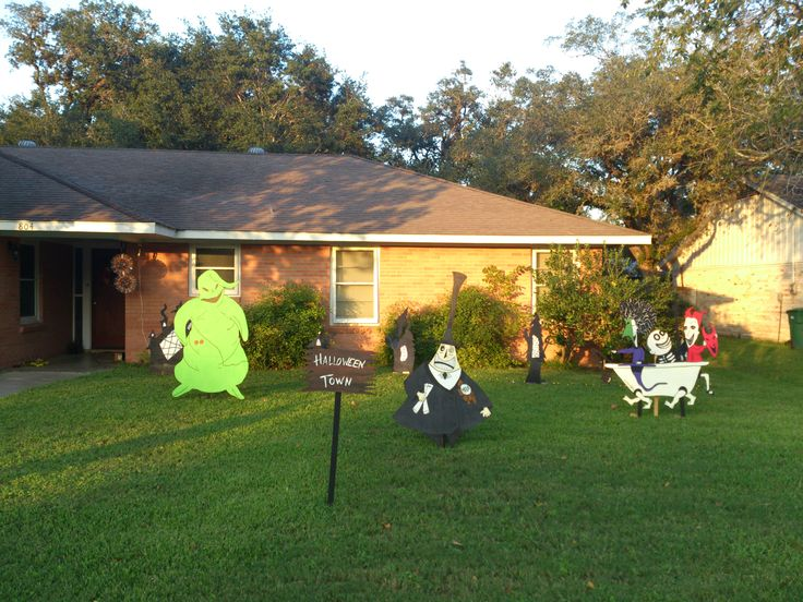 46 best images about halloween yard themes on pinterest for Yard cutouts