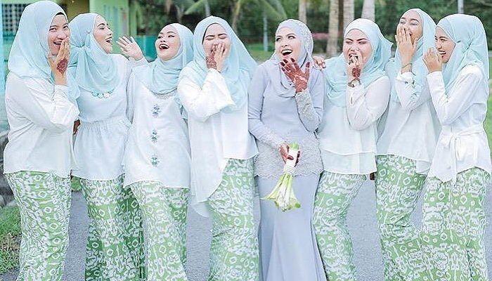 Malay Wedding Bridesmaid Smiling.