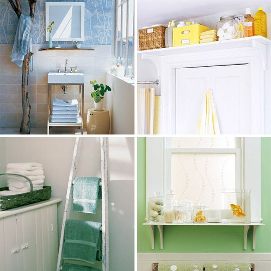 Organizacion Baño Pequeno:Small Space Bathroom Storage Ideas