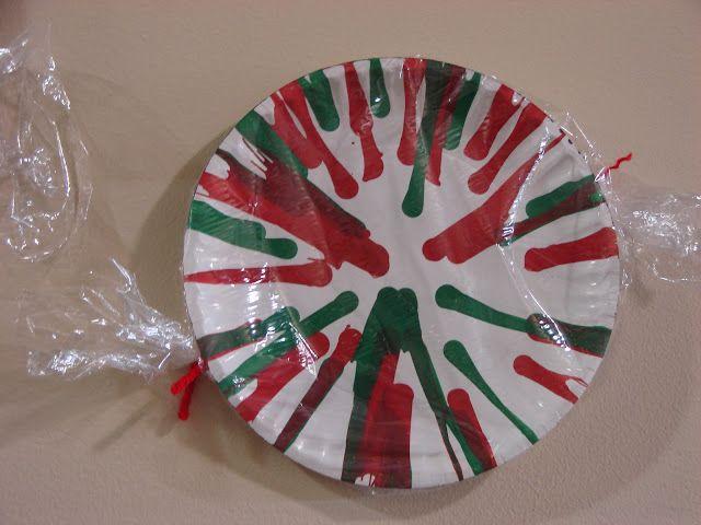 Beautiful Chaos: Preschool: Peppermint Candy Craft Christmas door