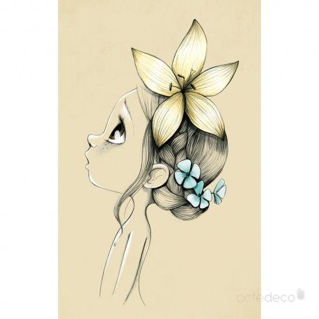 Tableaux Wild girl 02 par Emmanuelle Colin