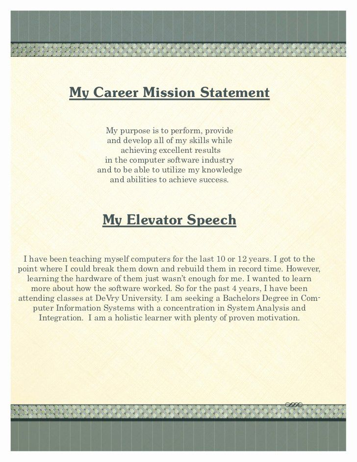 School Of Nursing Mission Statement Example Luxury My Portfolio Company Examples Personal For Career