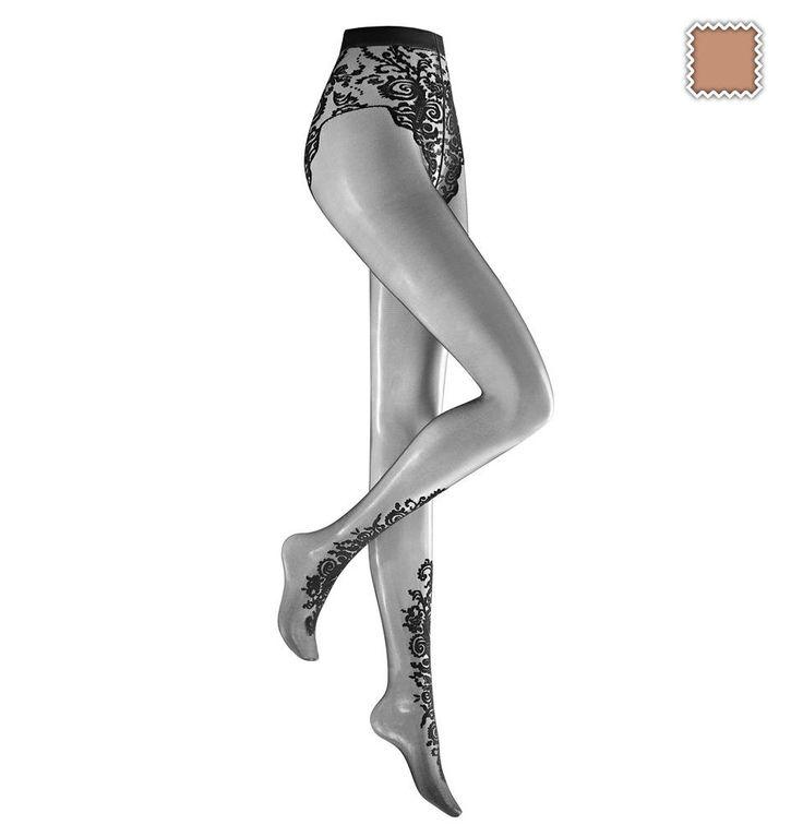 Eine Feinstrumpfhose mit floralem Muster - die lässt jedes schlichte Kleid zum absoluten Hingucker werden! Ob elegant am Abend mit High Heels oder tagsüber mit Sneakern, diese Strumpfhose macht dein Outfit zu etwas Besonderem. 👌