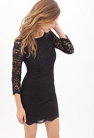 Klassisches Kleid mit Blumenspitze - Kleider - 2000060221 - Forever 21 EU