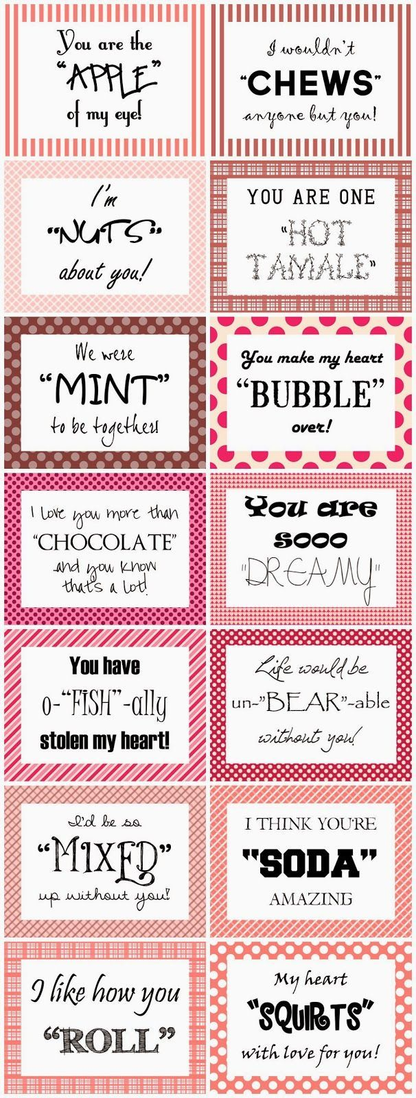 Bit Cheesey but ... cute for Valentine Care packages - Heart Expressions Design: Free 14 Days of Valentines download