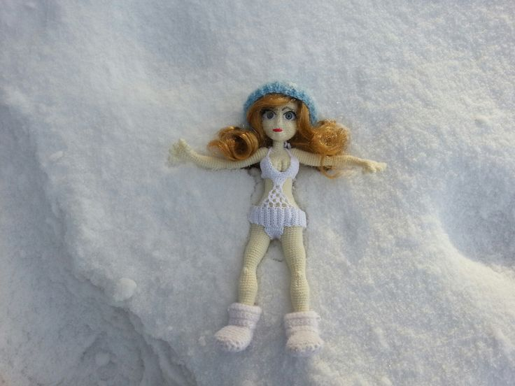 Snow girl #amiguru #doll #crochet #snow #handmade