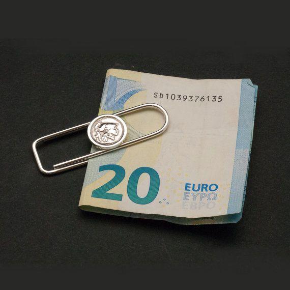 Sterling Silver Money Clip Ancient Greek Coin Money by GreekMythos