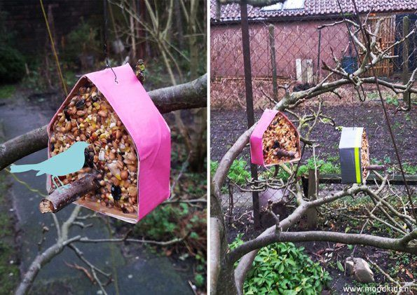 vogelhuisjes maken vogelvoer DIY www.moodkids.nl/diy #vogelvoer #birdfeed #birdhouse