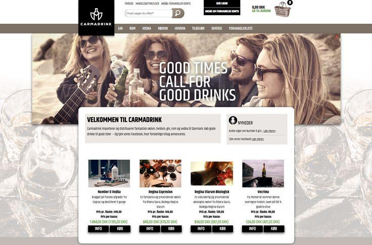 Endnu en Webshop i luften for firmaet Carmadrink. #Webshop #Webdesign