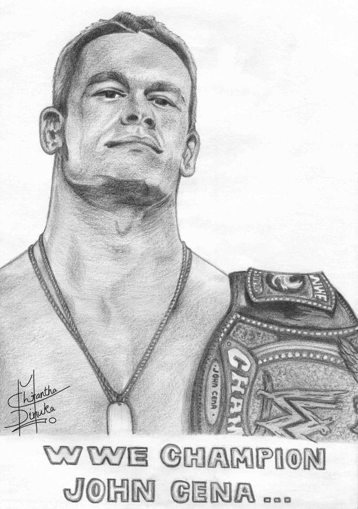 How To Draw John Cena Wwe John Cena Drawings John Cena