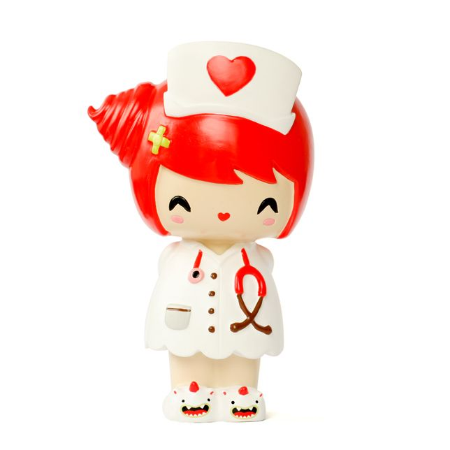 Dr Love Momiji are handpainted resin message dolls. Turn them upside down...inside every one there's a tiny folded card for your own secret message. Spread the love.All dolls are approx 8cm (3in) tall.