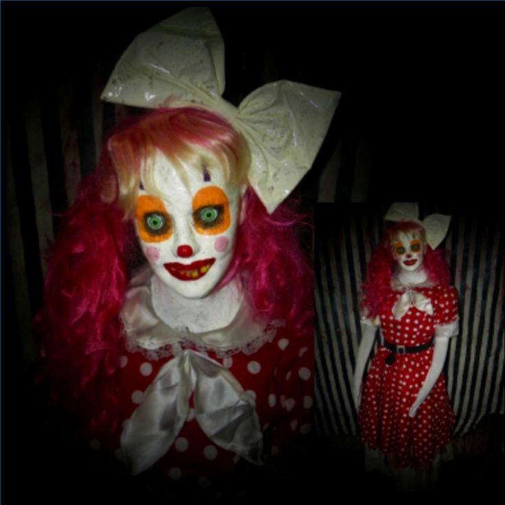 Candi Female Clown Prop | Halloween Props| Haunted House Props| Animatronics| Horror Props