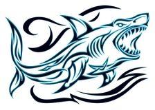 Tribal Shark Temporary Tattoo #temporary #tattoo #summer #tattoos