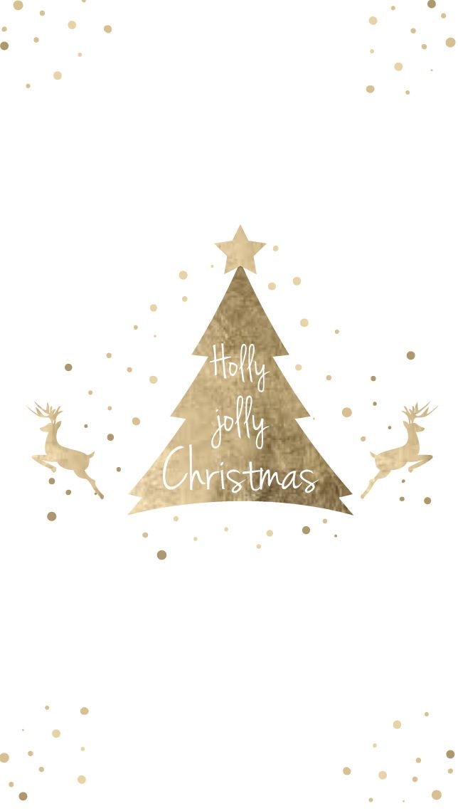Iphone Gold Christmas tree Wallpapers