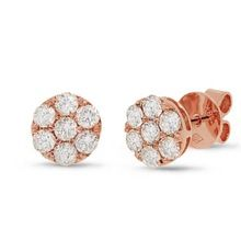 Top Grade 1 18k rose gold december stone valentines jewelry family 14k gold cheap promise earrings for girlfriend