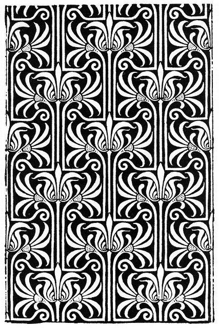 art noveau pattern by kits.cardinal, via Flickr